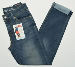 Signature By Levi Strauss 11054 New Womenand039s Modern Slim Cuffed Distressed Jeans