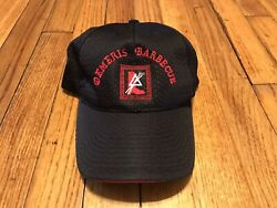 Demeris Barbecue Ball Cap Black/red One Size Fits All Jersey Knit Fabric