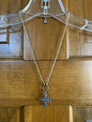 James Avery Necklace With Pendant Sterling Bronze