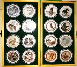 Collection 16x Silver Proof 1 Oz Coins Perth Mint 2020 Native Australian Animals