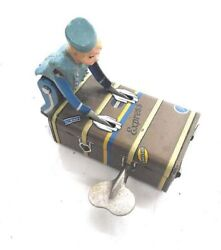 Tin Toys Gescha Express Boy Blue Figure Robot Vintage Wind-up Made In Germany