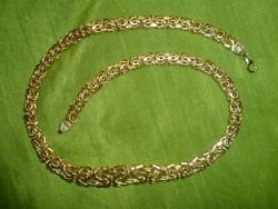 Real10k Yellow Gold Byzantine Necklace Chain Damaged Scrap Or Not Scrap 15 Grams