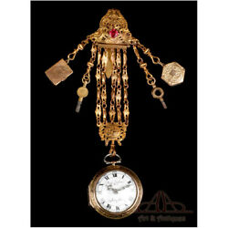 Antique Swiss Jaques Coulin And Amy Bry Verge Fusee Pocket Watch. Circa 1785