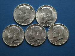 1964p Kennedy Half Dollars 2.50 Face Value Lot 2 - 90 Silver Us Coins