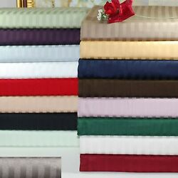 Hotel Bedding Collection 1000tc Egyptian Cotton Us Full Size Striped Colors