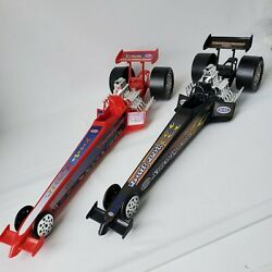 2 Processed Plastic Nhra Drag Racers Dragsters Xtreme Machines Red Black 9514