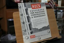 Brochure Huck Manufacturing Co Fasteners For Railroad Construction Powerig Tools