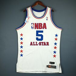 100 Authentic Jason Kidd 2003 All Star Game Pro Cut Jersey Size 48+2
