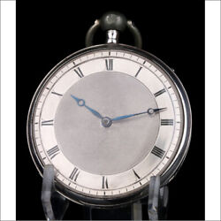 Antique Solid-silver Quarter Repeater Cylinder Pocket Watch. France Circa 1820