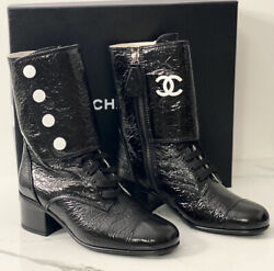 Lace Up Leather Block Heel Boots 19-20fw Size-36.5