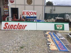 Rare Vintage Sinclair Service Station Huge Advertising Sign Two Pc. 19 Feet Long