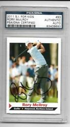 2011 Si Kids Rory Mcilroy Rookie Psa/dna Certified-auto Golf Autograph 83