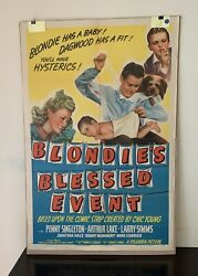 Classic Vintage Columbia Pictures1942 Blondie's Blessed Event Movie Poster