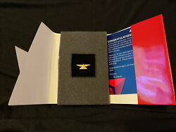 Delta Airlines 45 Year Service Anniversary Pin 10k Gold With Diamonds