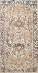 Memorial Sale Antique Geometric Traditional Area Rug Oriental Hand-knotted 5x10
