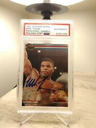 Signed 1991 Ringlords Sample Promo Mike Tyson Boxing Card Psa Dna Auto Hot Rare