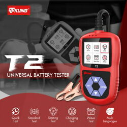 Qpkung T2 12v Car Motorcycle Universal Battery Tester Battery Analyzer Wave Test