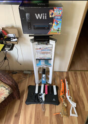2 Nintendo Wii Consoles - 15+ Games Tower Stand Mario Cart, Wii Sports More