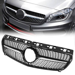 Car Fashion Front Bumper Hood Grille Grill For Benz A Class W176 2013 2014 2015