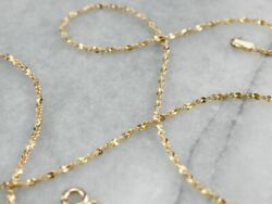 14k Gold Sparkling Tinsel Chain Necklace