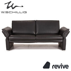 Willi Schillig Leather Sofa Grey Two Seater Function