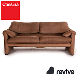 Cassina Maralunga Fabric Sofa Braun Two Seater Function Couch