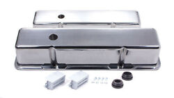 Racing Power Co R6130-2 Aluminum Tall Valve Covers Fits Sbc Engines