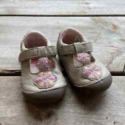Stride Rite Gold Pink Kelly Shoes 5w Soft Motion Flowers