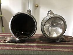 Guide 682-c Headlights Original Pair Rat Rod Ford Chevy Plymouth Dodge Gmc