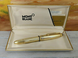 Vintage  Solitaire Barley Gold Plated 146 Fountain Pen