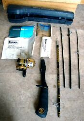 Vintage Daiwa Minicast Gold Series Mg-1 Reel And Rod Combination System