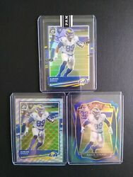 2020 Optic Football Aaron Donald 1 Of 1 Black, /199 Silver Wave, And Select Blue
