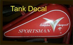 Simplex Servi Cycle Motorcycle Mini Decals, One For Each Side, 1 Set Of Decals