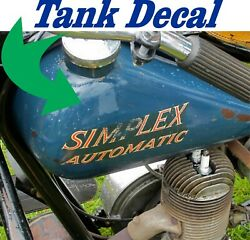 Simplex Servi Cycle Simplex Automatic Decals, One For Each Side