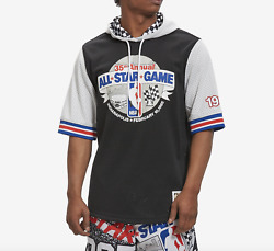 Mitchell Ness Indiana 1985 All Star Game Checkered Black Mesh Hoodie S/s Jersey