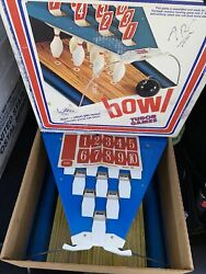 Vintage New Unused 1966 Tudor Games Bowling Game 10 Pin Action Pin Rest No Ball