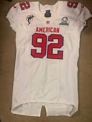 Nike Team Issued John Denny Miami Dolphins 2012 Nfl Pro Bowl Footbll Jersey Game