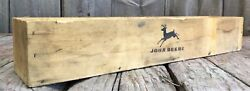 Rare Early Vintage John Deere Tractor Supply Tin Can Wooden Box Crate
