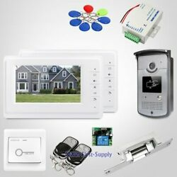 7 Wired Video Door Entry Call System With Ir Night Vision For Home Security