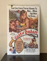Classic Vintage 1964 Columbia Pictures East Of Sudan Movie Film Poster