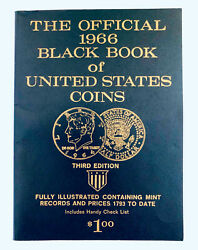 Vtg The Official 1966 Black Book Of United States Coins, 3d Edition, Illustrated