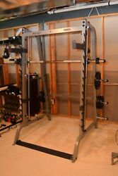 Body-solid Series 7 Smith Machine Gym Linear Bearings Gs348q