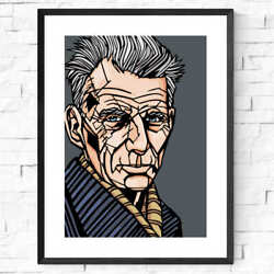Samuel Beckett Print Archival Quality Waiting For Godot Famous Writers