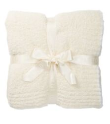 New With Tags-barefoot Dreams Throw Cream/white