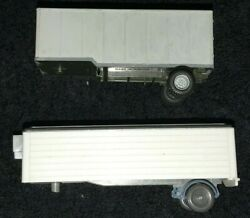 Two 2 Used Wiking Ho Scale 187 Box Van Trailers No Boxes