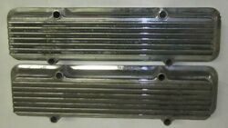 Keystone Chevy 55-58 265 283 Sbc Kvc-e Fin Valve Cover Pair Covers 2 Staggered