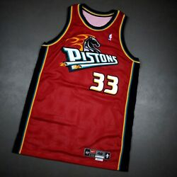 100 Authentic Grant Hill Vintage Nike 99 00 Detroit Pistons Game Issued Jersey