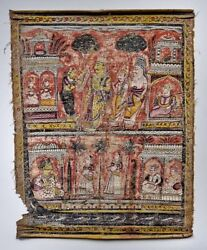 18th/19th Century Antique Indian Painting On Linen