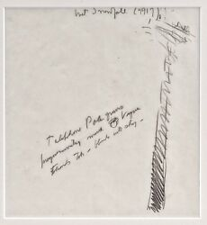 An Original Pencil Sketch By Charles Burchfield Dated 1917