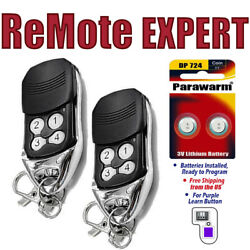 2 Car Garage Door Remote Opener For Liftmaster 370lm 371lm 373lm 315mhz Keychain